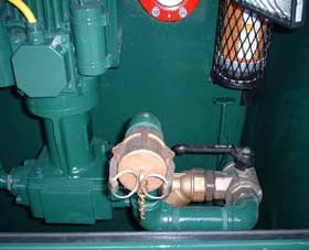 Pump c/w 2 way suction system