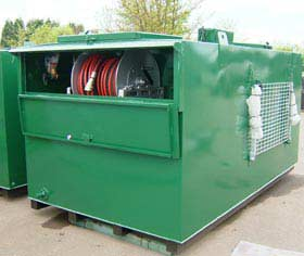 Waste Oil Tank c/w Step, Basket & Reel