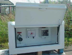 Flush Mounted Fill Point Cabinet   Open